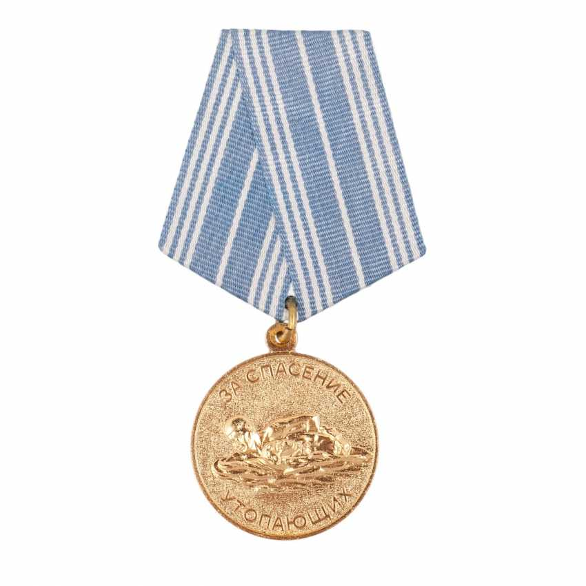 """Medal """"For the rescue of drowning"""" documents - photo 2"""