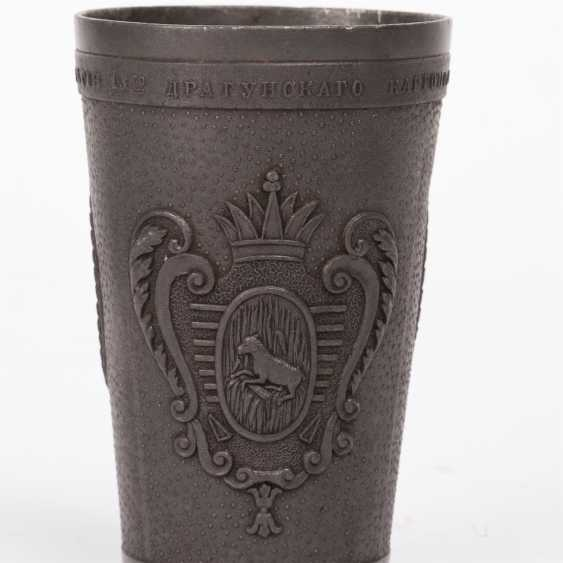Подносной un verre de portree. Nicolas II et de Pierre I - photo 3