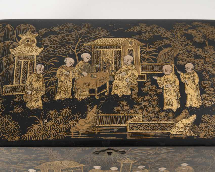 Teeschatulle with lacquer painting. - photo 2