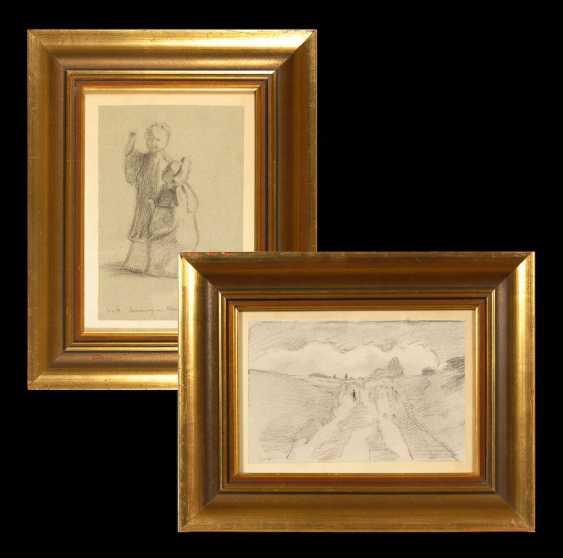 HOFMANN, Ludwig von: 2 charcoal drawings - photo 1