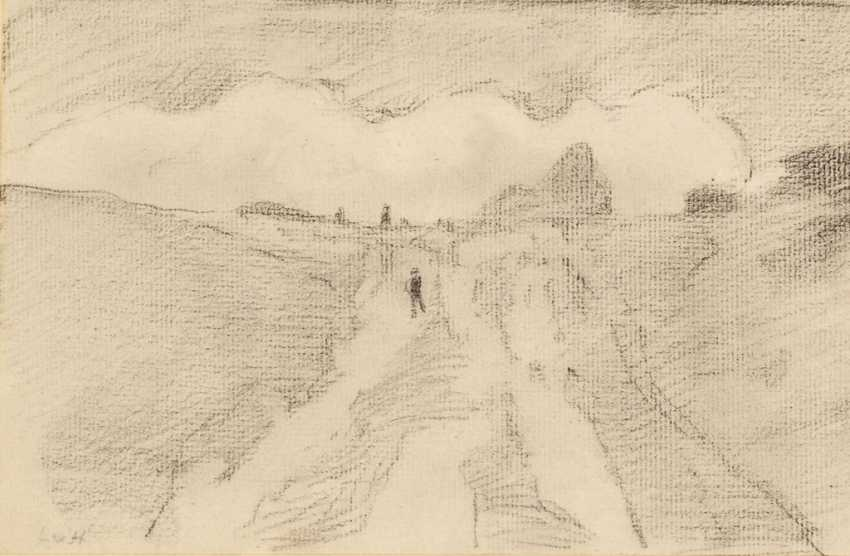 HOFMANN, Ludwig von: 2 charcoal drawings - photo 2