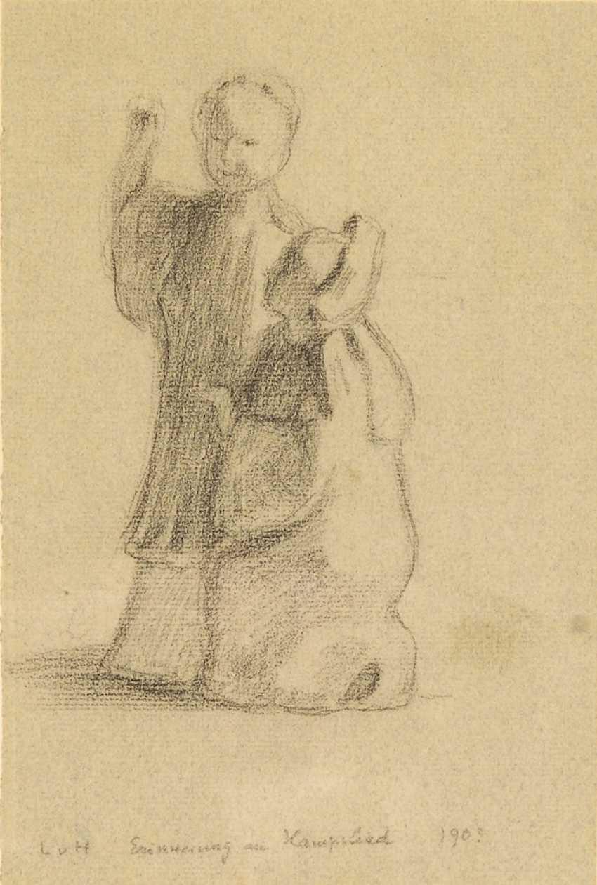 HOFMANN, Ludwig von: 2 charcoal drawings - photo 3