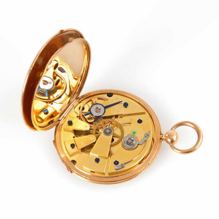 Golden pocket watch with key winding. - photo 3
