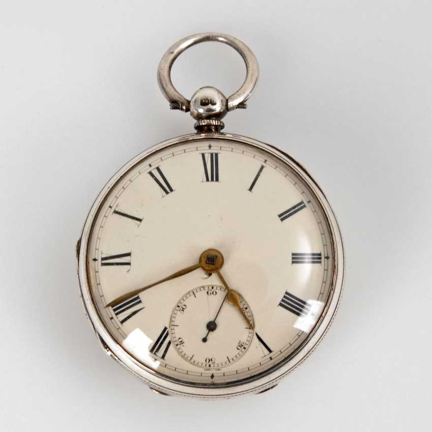 Silver English pocket watch. - photo 1