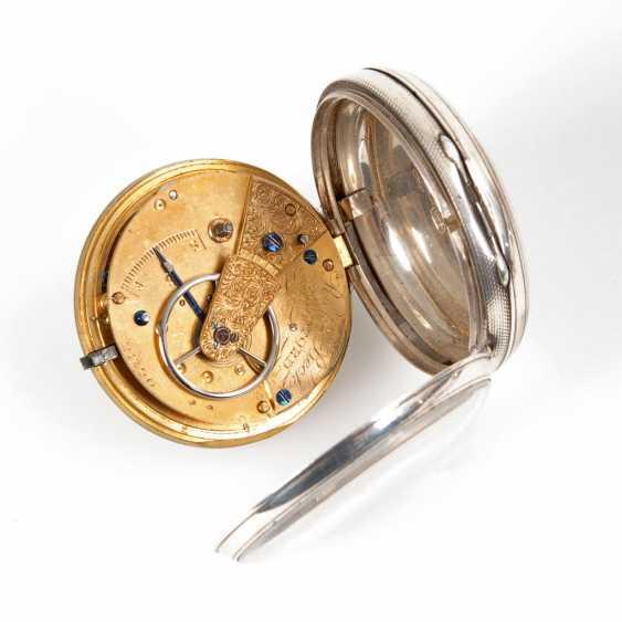 Silver English pocket watch. - photo 2