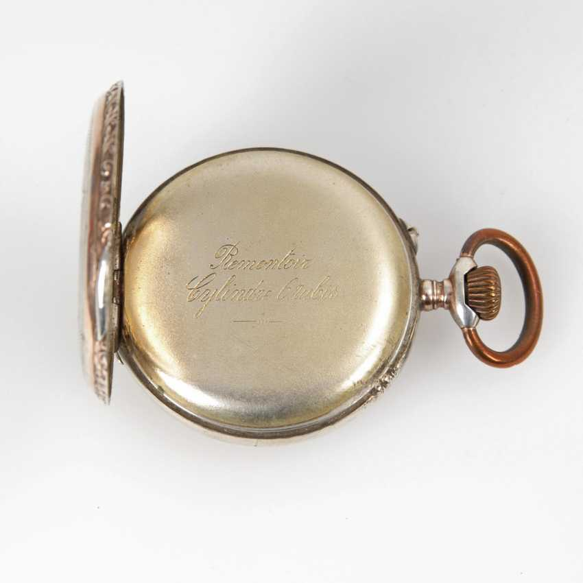 Silver pocket watch with watch chain. - photo 2