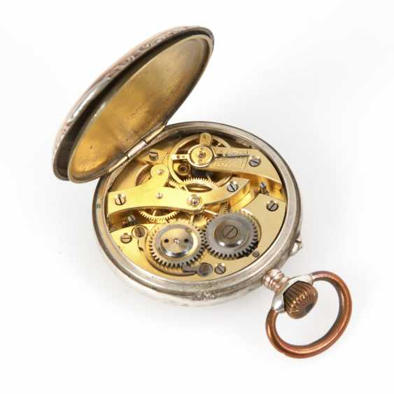 Silver pocket watch with watch chain. - photo 3