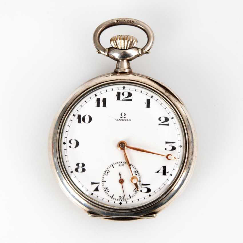 Silver pocket watch, OMEGA. - photo 1
