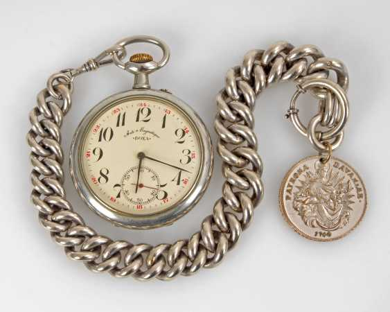 Large pocket watch in heavy Panzerkett - photo 1