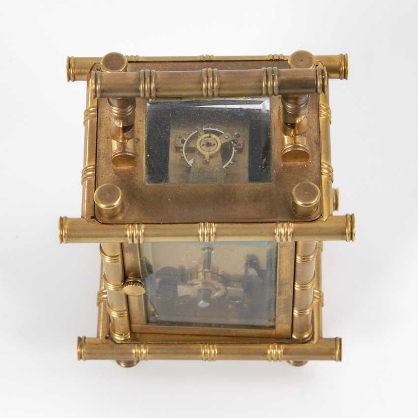 Small carriage clock with cherubs painting. - photo 2