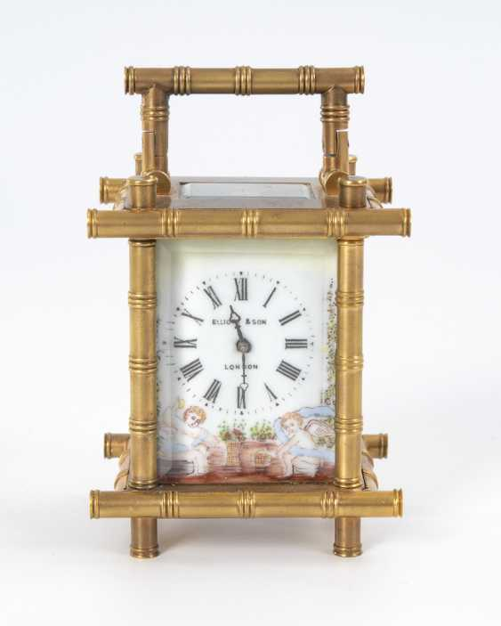 Small carriage clock with cherubs painting. - photo 3