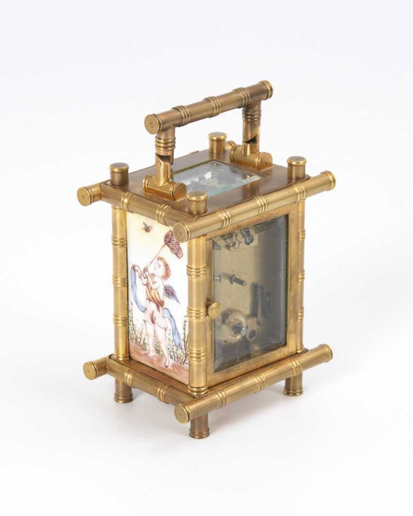 Small carriage clock with cherubs painting. - photo 4