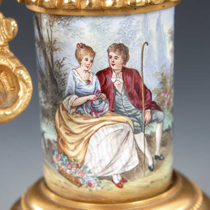 Vienna enamel watch, with a miniature figure. - photo 3