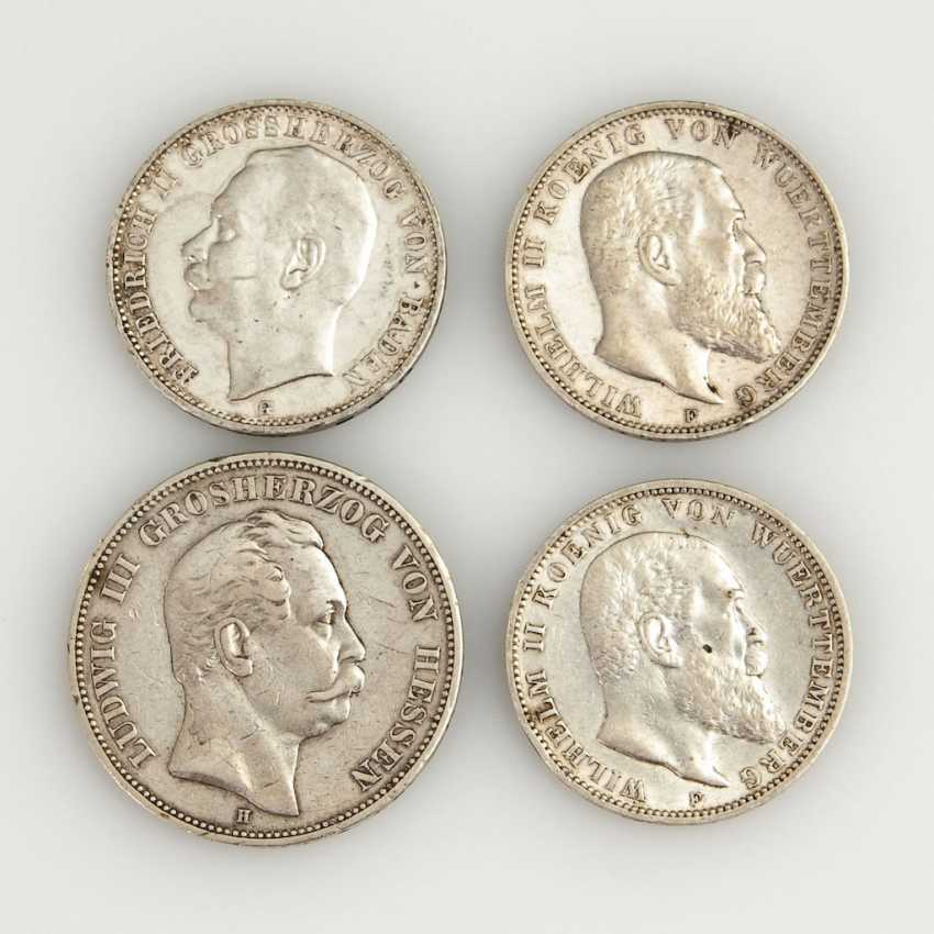 4 Silver Coins From The German Empire. - photo 1