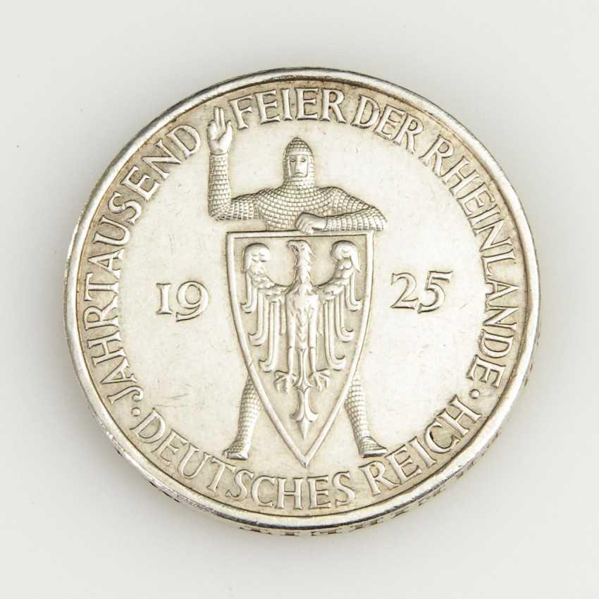5 Reichsmark, Weimar Republic, 1925. - photo 2