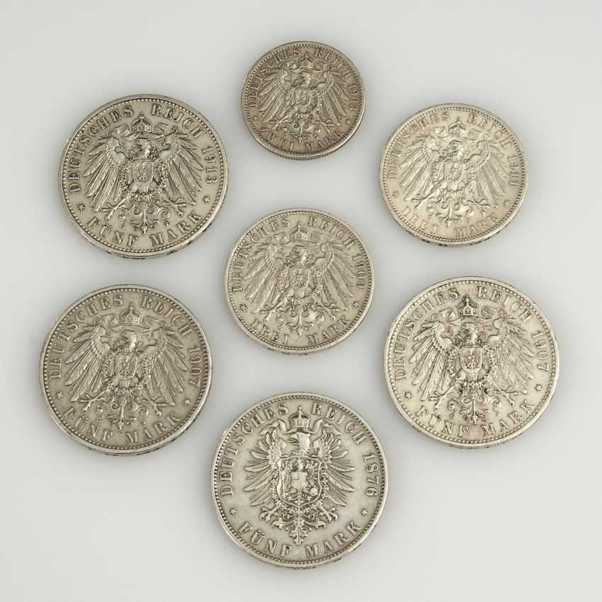 7 Silver Coins From The German Empire. - photo 2