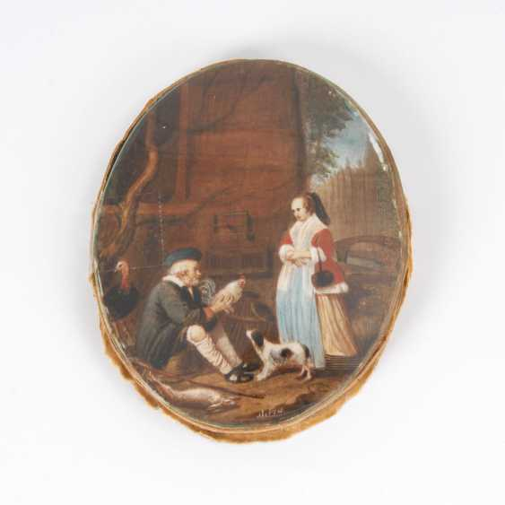 Miniature: poultry dealers and a lady. - photo 1