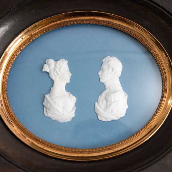 4-relief portraits, and a Dopp framed - photo 3