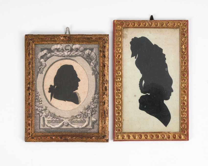 2 silhouette portraits. - photo 1