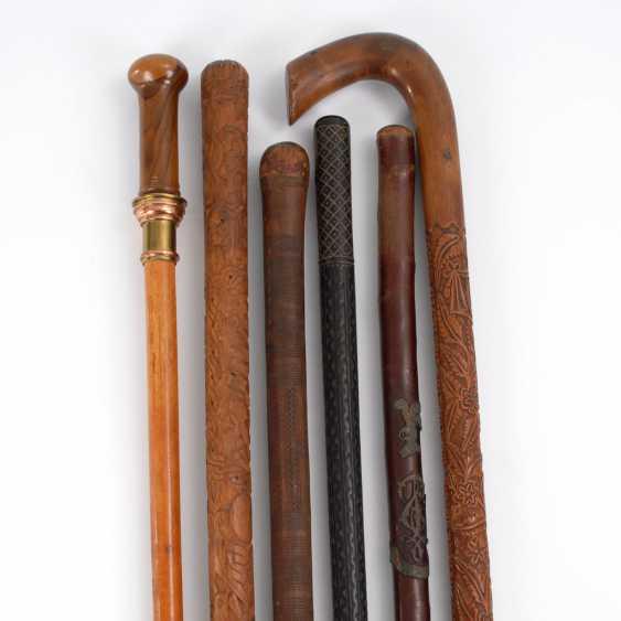 6 walking sticks, mostly walking sticks. - photo 1