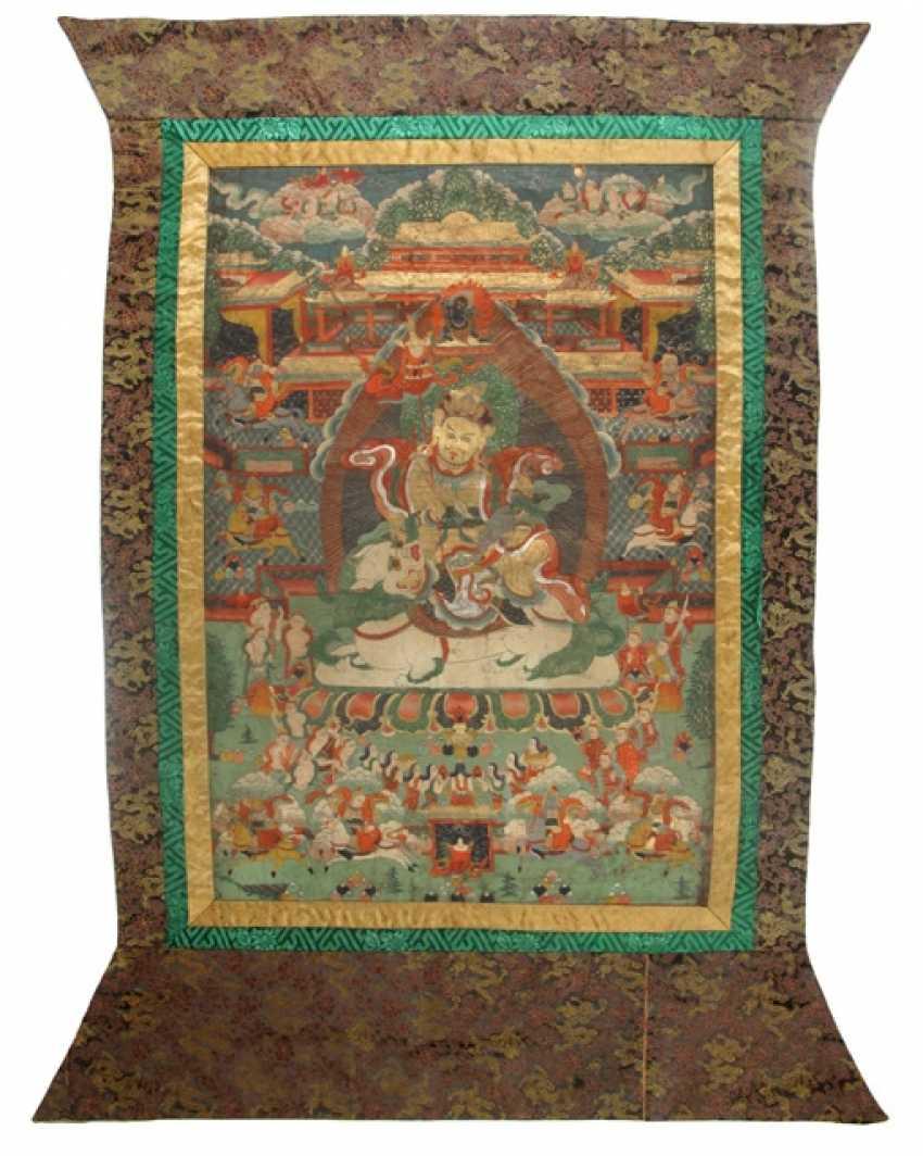 Thangka mit Darstellung Vaishravana