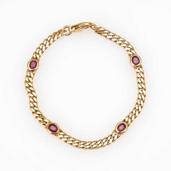 Classic bracelet with rubies. - photo 1