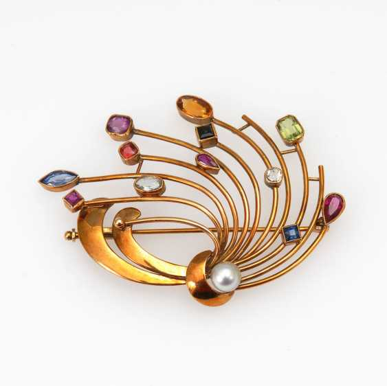Brooch with various stones and Z - photo 1