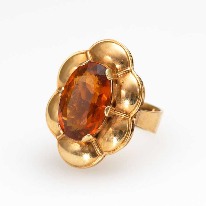 Ring with citrine. - photo 1