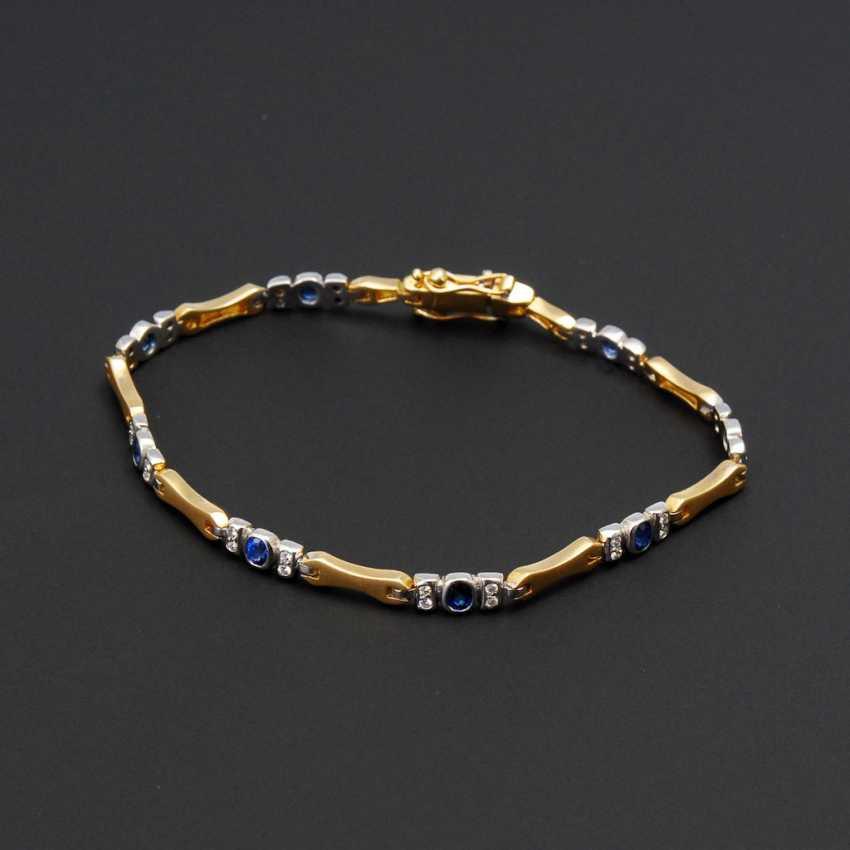 Bracelet with sapphires and diamonds. - photo 1