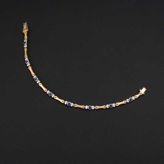 Bracelet with sapphires and diamonds. - photo 2