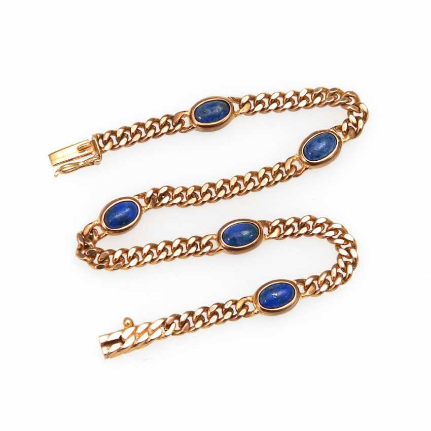 Bracelet with lapis lazuli. - photo 1