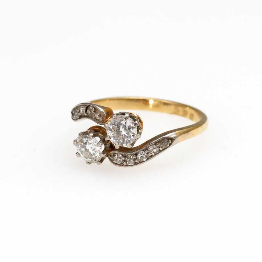 Youth style ring with old European cut-Brilliant - photo 1