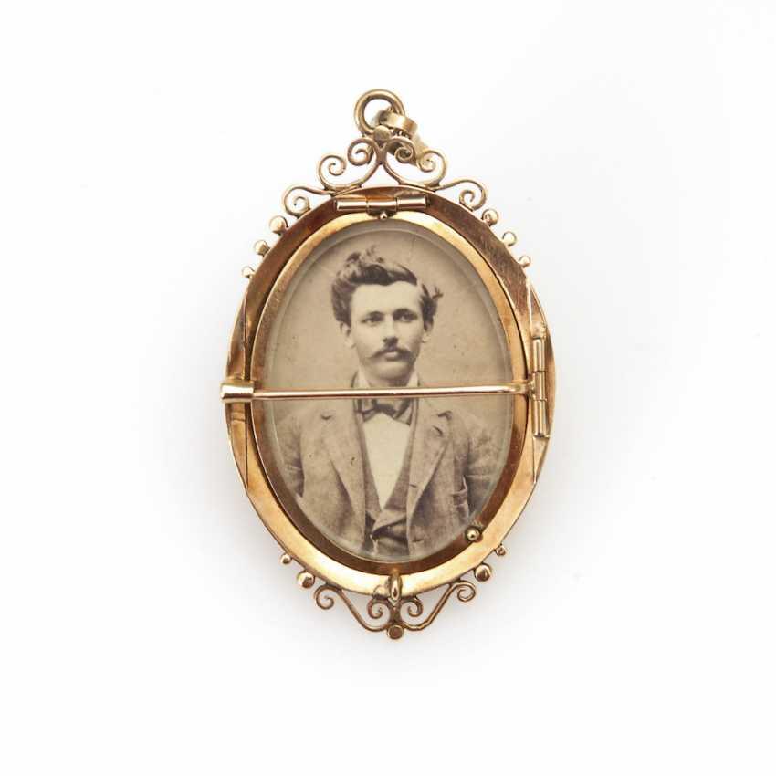 Locket Brooch/Pendant, Late 19th Century. Jah - photo 2