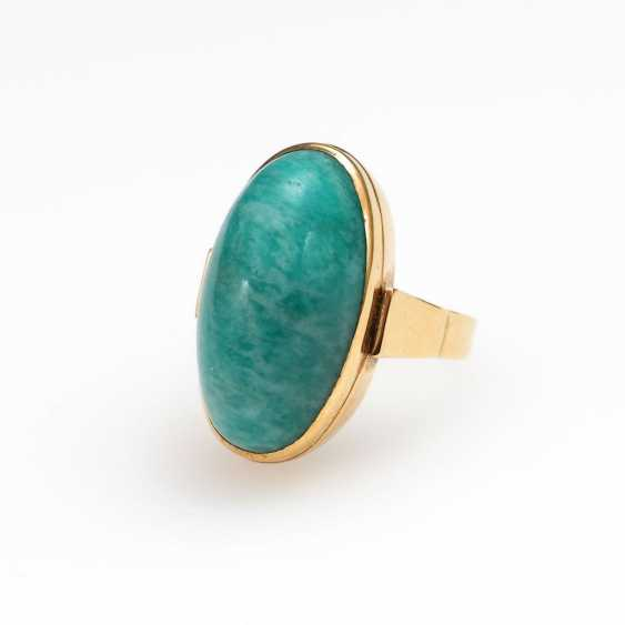 Ring with amazonite. - photo 1