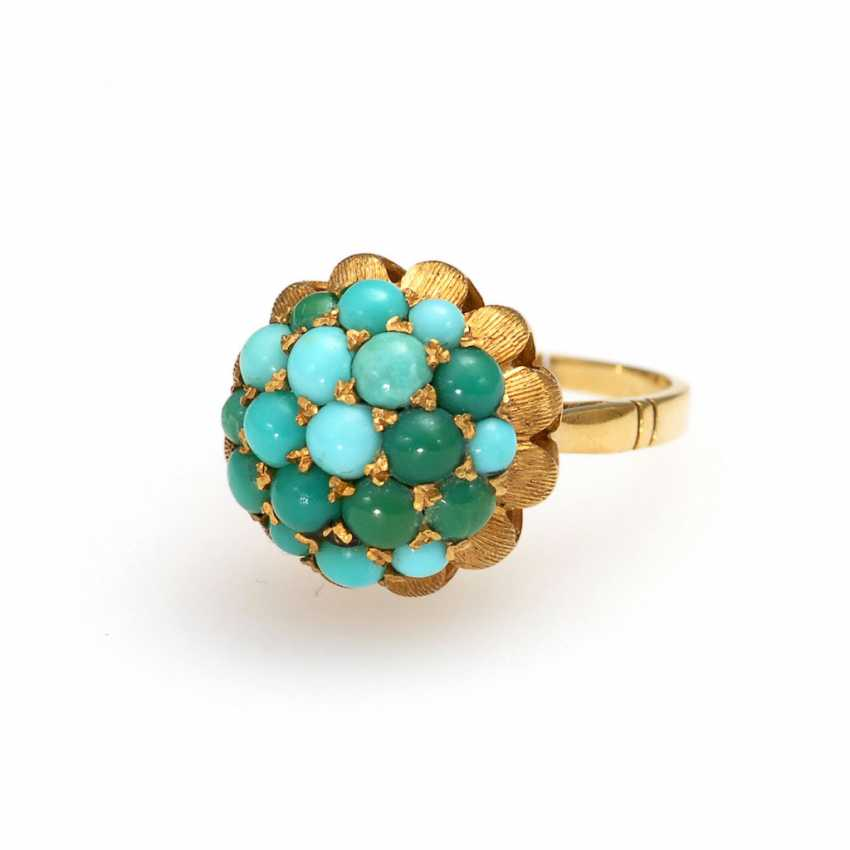 Ring with Turquoise. - photo 1