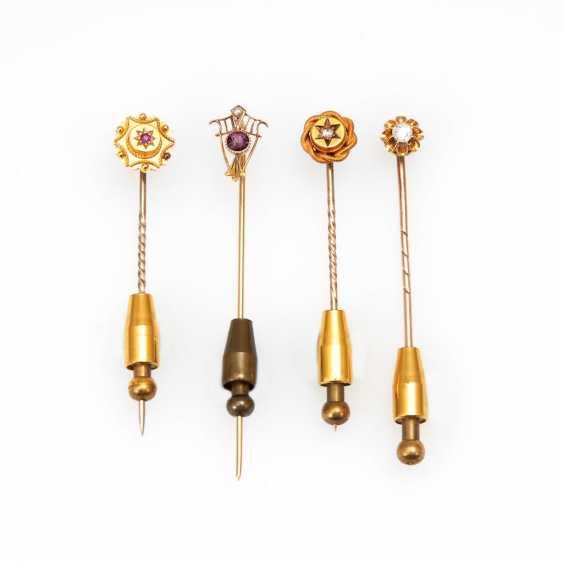4 lapel/tie pins to 1900. - photo 1