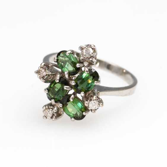 Ring with tourmalines and brilliants. - photo 1