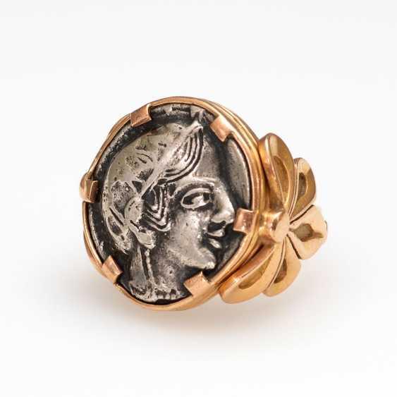 Heavy Ring with ancient tetradrachm. - photo 1