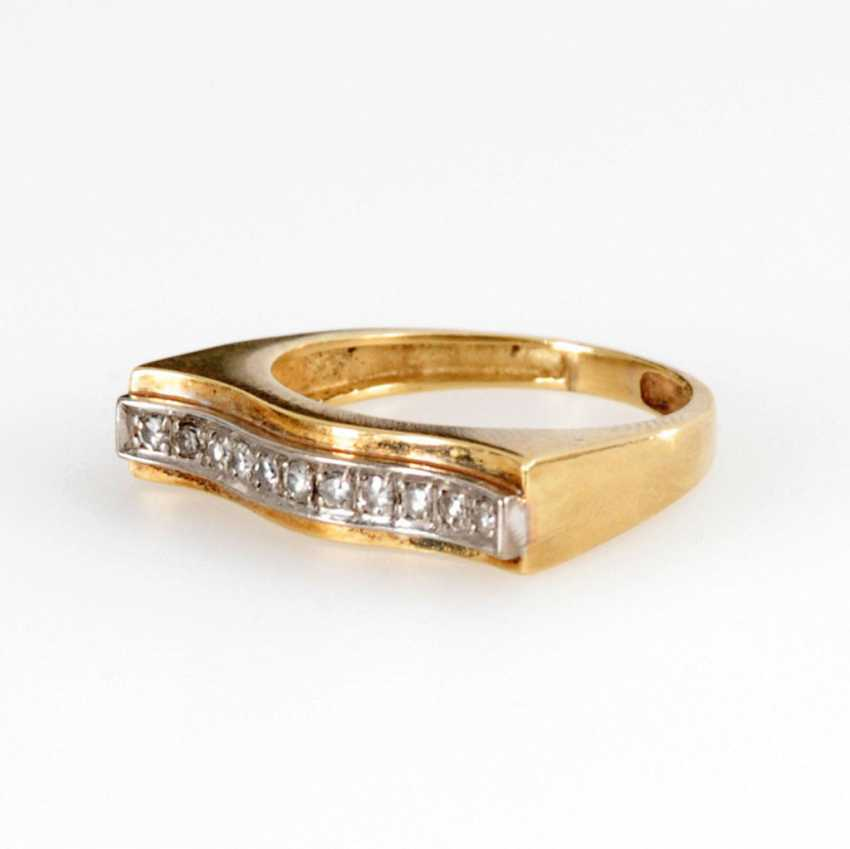 A modern Ring with diamonds. - photo 1