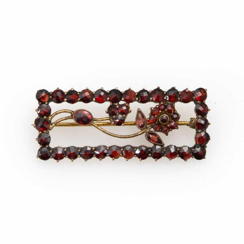 Garnet brooch. - photo 1