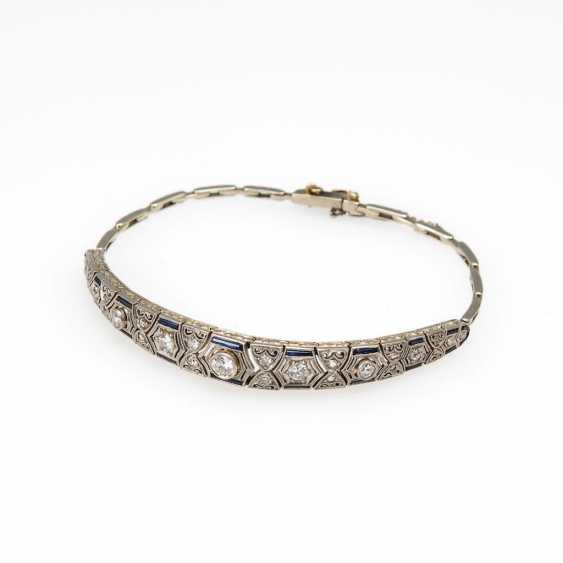 Art Deco bracelet with old European cut-Brilliant - photo 1