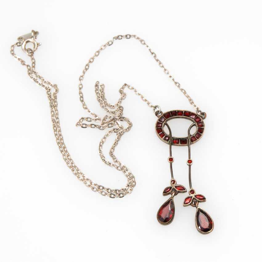 Art Nouveau necklace with grenades. - photo 1