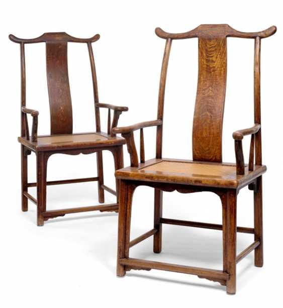 Few beamtenhut chairs with wicker seat - photo 1