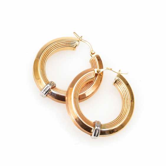 Large Hoop Earrings Pair. - photo 1