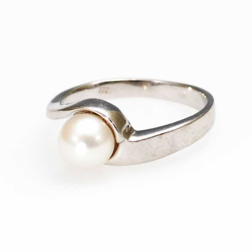 Ring with cultured pearl. - photo 1