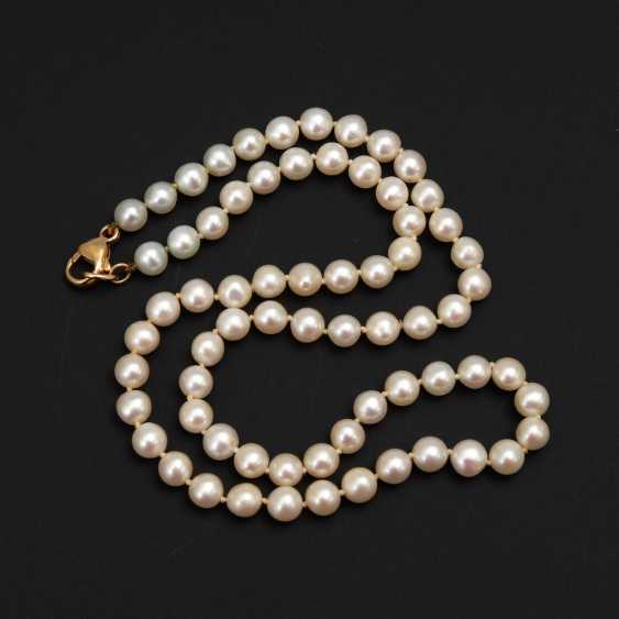 Cultured pearls chain. - photo 1