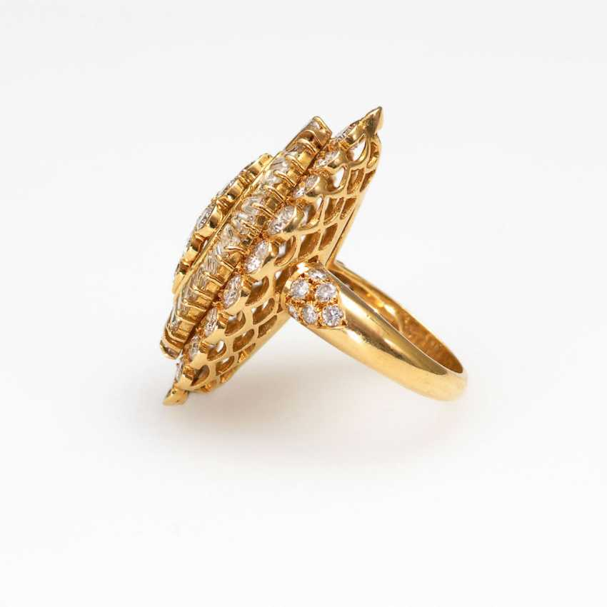 Luxurious Marquise ring with brilliants - photo 2