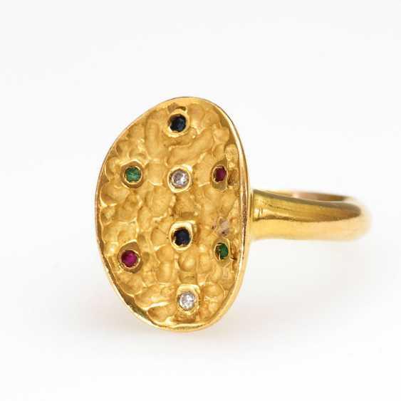 Designer-Ring with different stones - photo 1