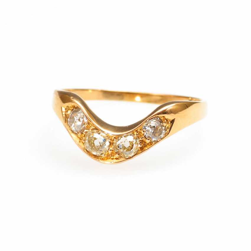 Ring with old European cut diamonds. - photo 1