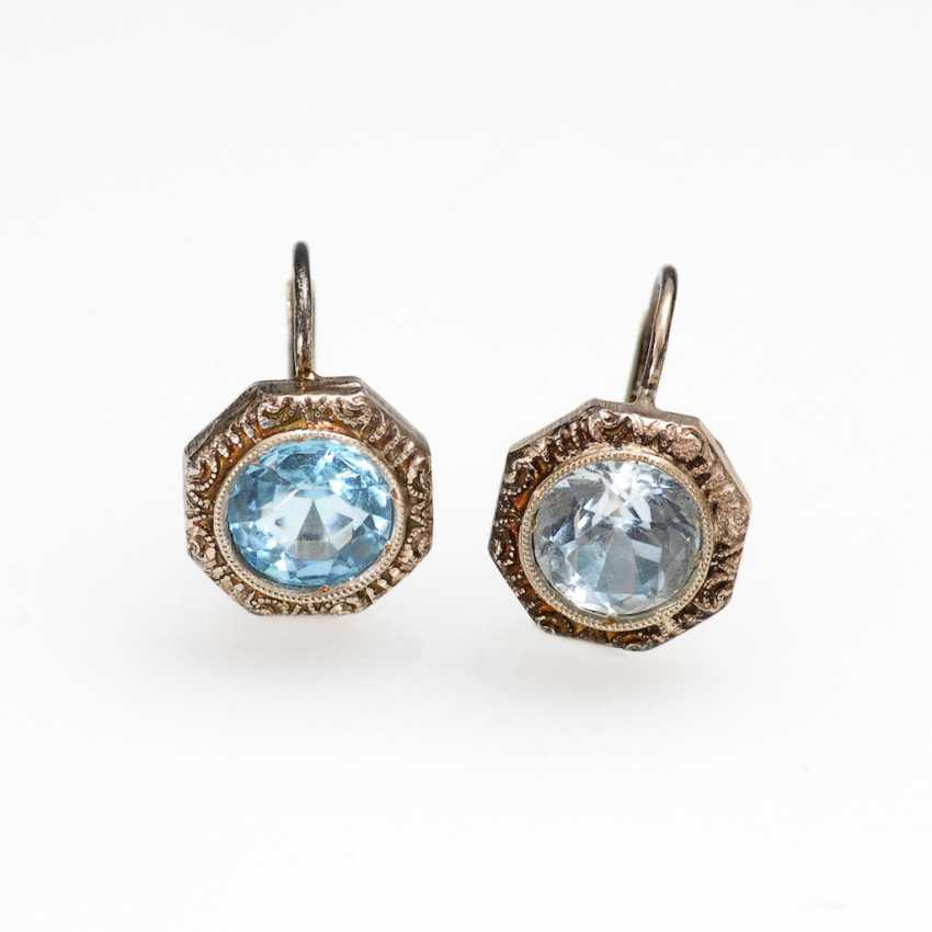 Earring pair with light blue Imitatione - photo 1